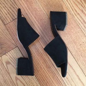NIB! XOXO black suede slide sandals